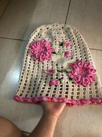 Capa de galão de água em crochê  - Foto 3