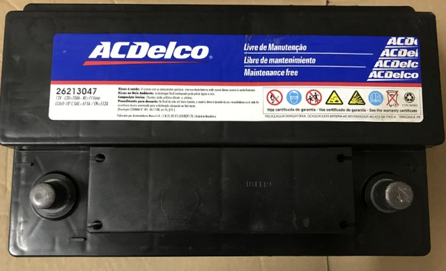 Bateria ACDelco 70 Amperes-26213047