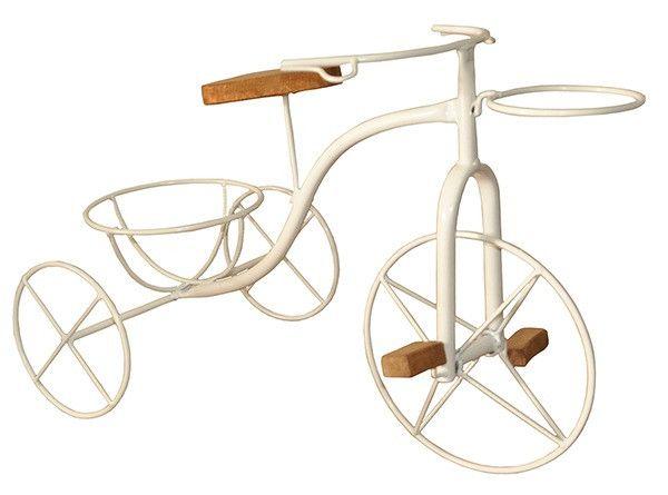 Bicicleta Artesanal Porta Vaso Em Ferro e Madeira - Foto 2