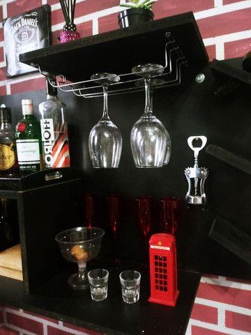 Bar Suspenso com Adega em MDF - Foto 4