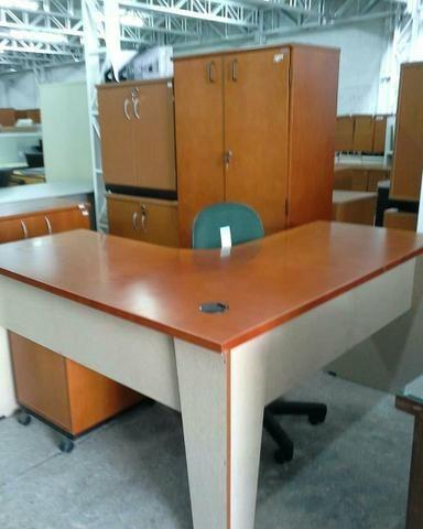 Conjunto Mogno para escritório (MDF)