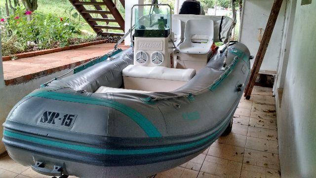 Bote marca Flexboat, mod. SR15, c/ carreta rodoviária
