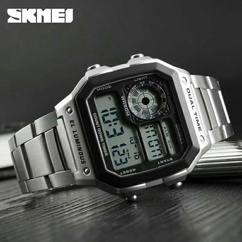 94318246268 Relógio Originais 100% Original em aço inox SKAMEI - Bijouterias ...
