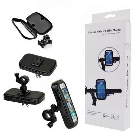 Suporte Moto Bike Impermeável Case Capa para Celular Smartphone Gps Bicicleta - Foto 2
