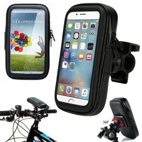 Suporte Moto Bike Impermeável Case Capa para Celular Smartphone Gps Bicicleta