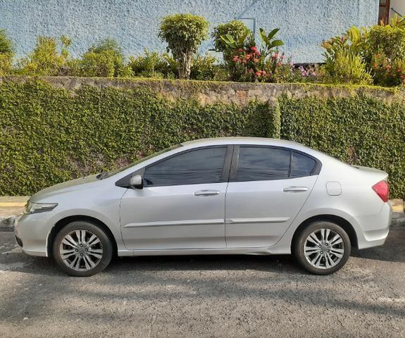 Honda City LX Flex Aut. 2013/2014, prata, único dono, 48.000 km