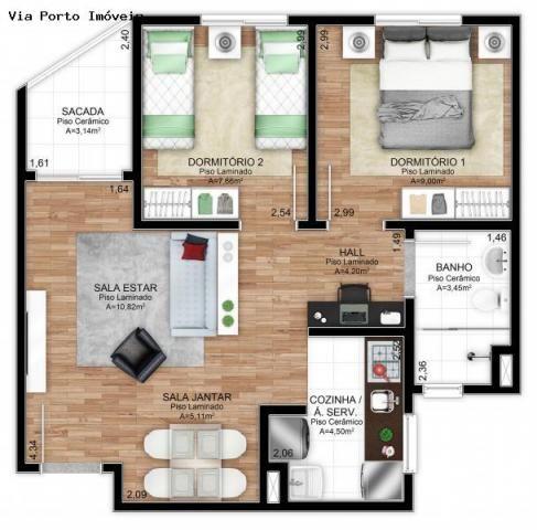 Apartamento para Venda em Novo Hamburgo, Santo Afonso, 2 dormitórios, 1 banheiro, 1 vaga - Foto 6