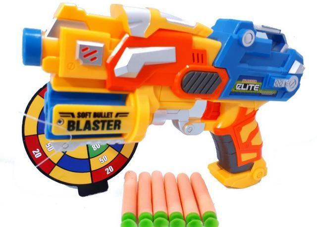 Lançador Nerf com 06 Dardos Blaster Elite Com Alvo - Foto 3