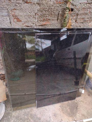 3 vidros fumê de janela