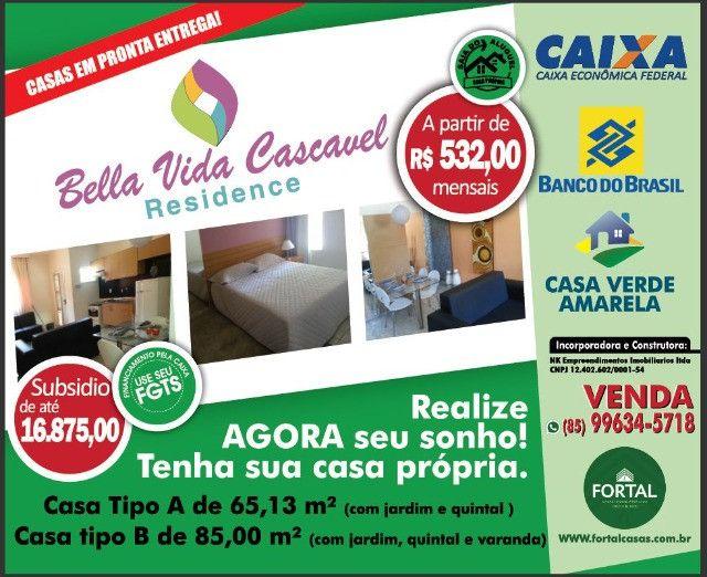Novas Casas de 63 e 85 m2 - Cascavel - CE - Promoçao ! - Foto 2
