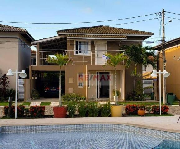 Casa 4 Quartos - Condomínio Porto Sol Residencial Clube-Catu de Abrantes - Camaçari/Bahia