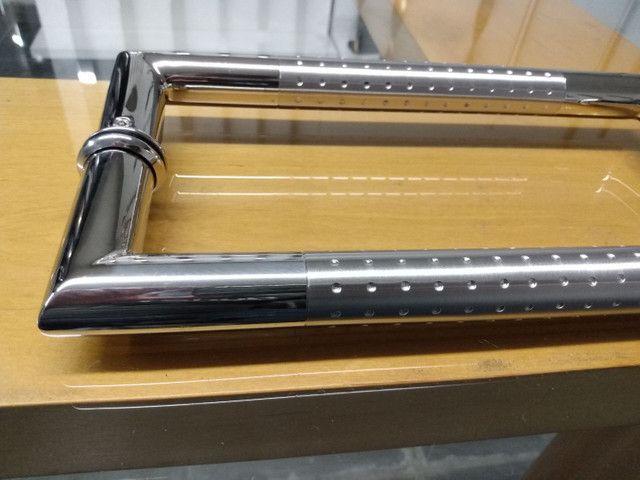 Alça de aço inox escovado detalhes polido - Foto 2
