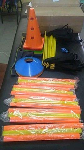 Kit Profissional Escada funcional Pvc inquebrável 10 cones 10 pratos Chineses - Foto 5
