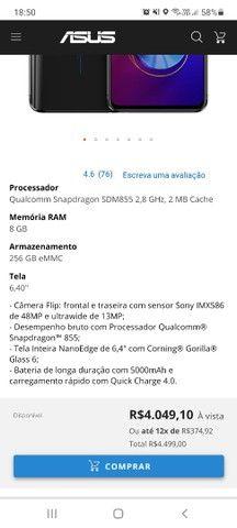 Asus zenfone 6 - 256gb Lacrado - Foto 3