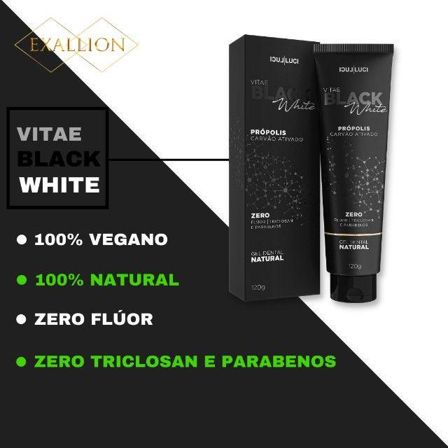 Gel Dental Clareador Com Carvão Ativado ''Vitae Black White'' - Foto 2