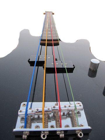Jogo de Corda para Contrabaixo Elétrico - Cordas Coloridas - Foto 4