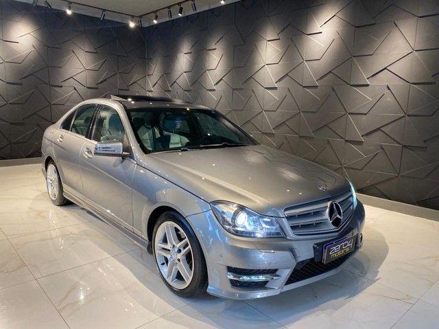 Mercedes-Benz C250 CGI SPORT 1.8 16V TB Automático 2013/2013 configuração Linda