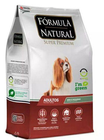 Ração fórmula natural adulto 7kg 100 reais