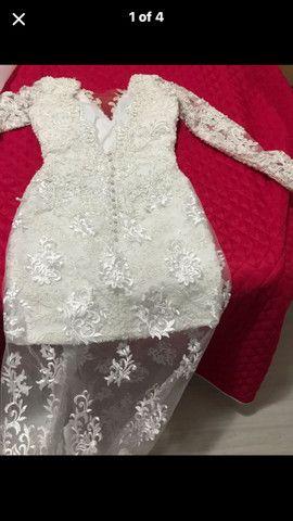 Vestido branco impecável usado 1x  - Foto 3