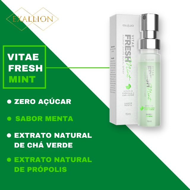 Aromatizante Bucal Extra Forte ''Fresh Mint'' Sabor Menta - Foto 2