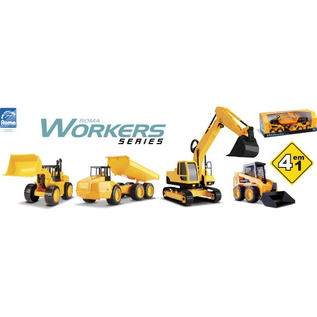 Brinquedo trator worcks series com 4 - Foto 3