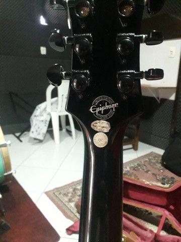 Guitarra Les Paul Epiphone TransBlack. Negocio à vista - Foto 3