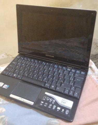 Netbook Megaware (com defeito e sem bateria)