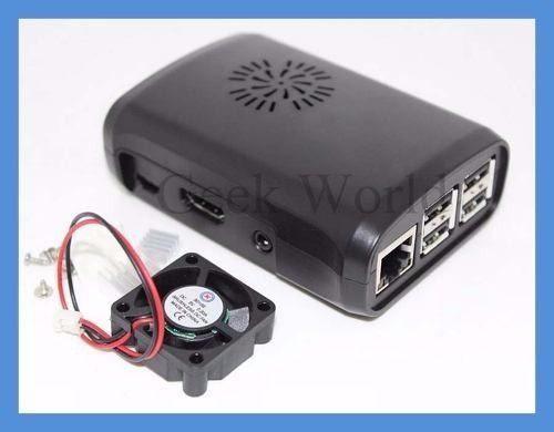 Case + cooler + dissipadores para Raspberry Pi 2/3