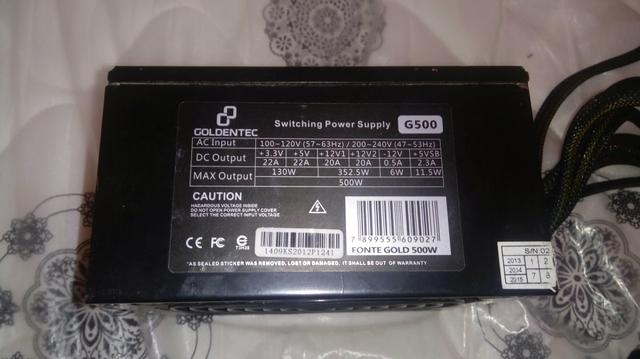 Goldentec Switching Power Supply G500