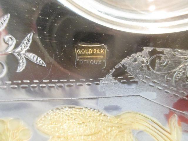Bowl centro de mesa Deloux folheado a prata e ouro 24K - USA - Foto 5
