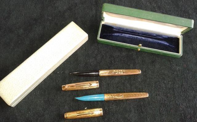 Canetas Parker modelo 61 em ouro