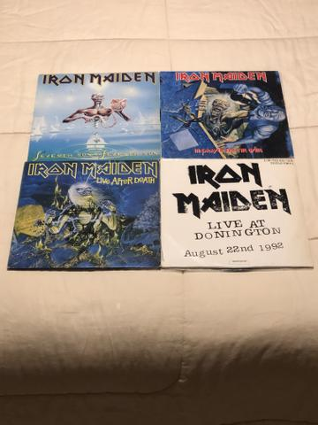 4 álbuns Iron Maiden excelente estado incluindo LIVE AT DONINGTON - Foto 3