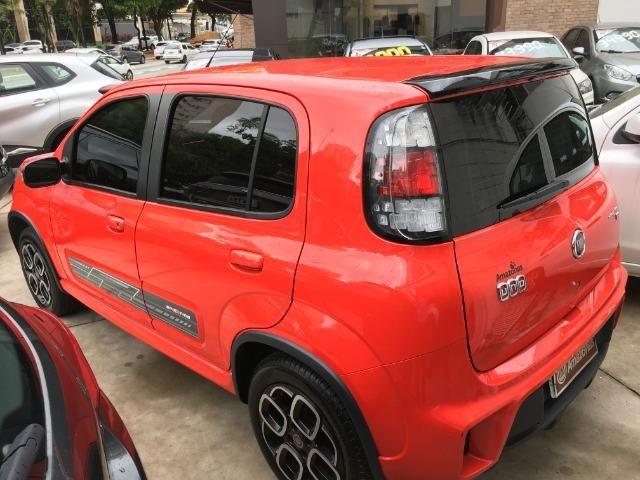Fiat Uno 1.4 Evo Sporting 8v Flex 4 portas Automatizado vermelho 2015 - Foto 6