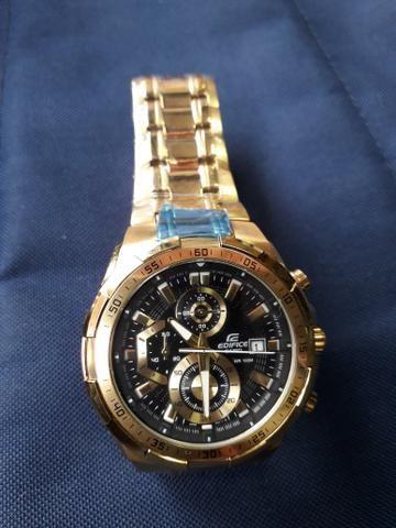 e86478cb8db Relógio Casio Edifice Dourado - Bijouterias