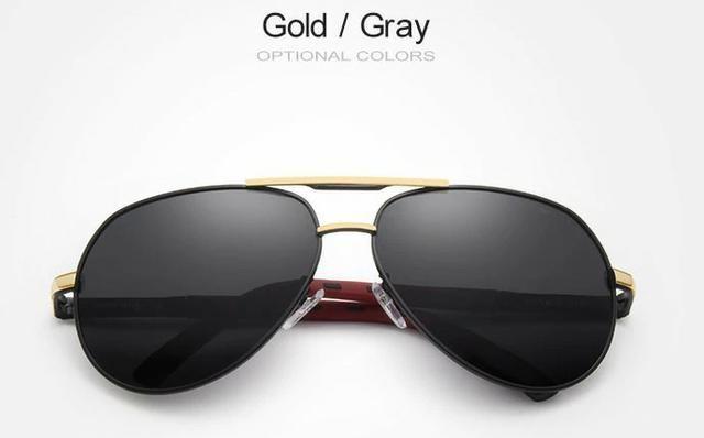 Óculos de Sol Masculino-Aviador-Proteção UV 400 e Polarizado ... e79a6f0500