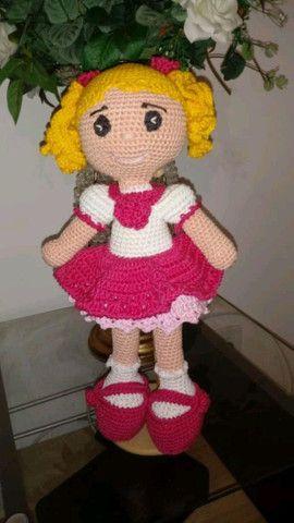 Boneca em Amigurumi Ritinha - sob encomenda - Foto 2