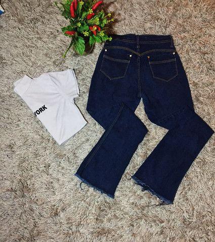 Calça flare jeans - Foto 2