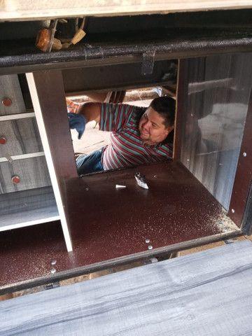 Caixa de cozinha e geladeira 85 litros de caminhão  - Foto 4