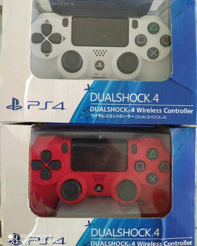 Controle PS4   Sony vermelho e/ou branco original  sem fio - Foto 4