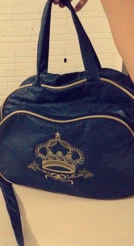Bolsa azul de bebê  - Foto 2
