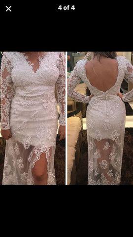 Vestido branco impecável usado 1x