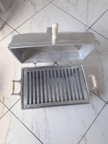 Vende-se churrasqueira abafo de alumínio fundido  - Foto 2