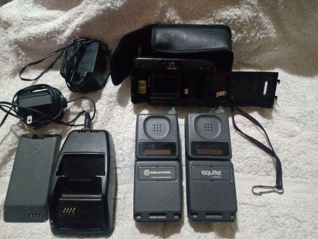 Relíquia ... Primeiro celular que existiu  no Brasil (tijolão) + Maq. Fotografica - Foto 2