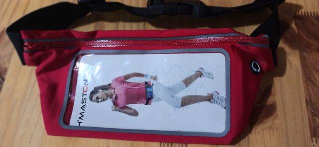 Pochete cinto porta celular fitness Corrida até 5.5' Impermeável - Foto 2