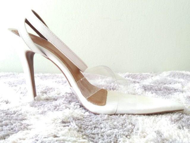 Combo sandálias bico folha (dois pares ) - Foto 2