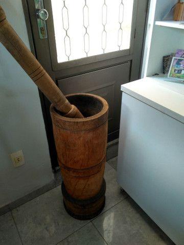 Pilão de madeira. - Foto 3