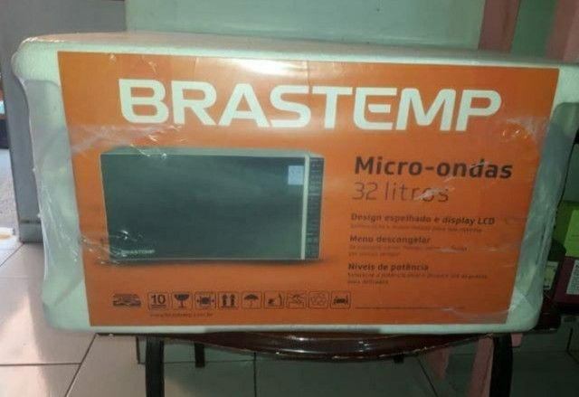 Micro-ondas Brastemp 32 litros Inox novo