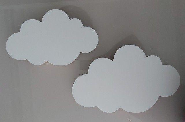 Kit 2 nuvens em MDF com luz led (NÃO FAÇO ENTREGA) - Foto 2