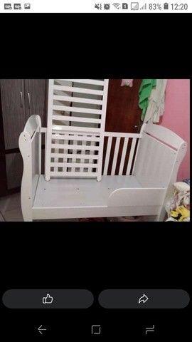 Berço cama com colchão 350 novo aceito cartão  - Foto 3