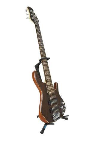 Suporte de Chão para Violão Guitarra Contrabaixo - Foto 3